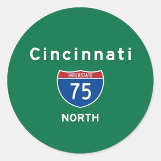 Cincinnati 75 classic round sticker