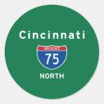 Cincinnati 75 pegatina redonda