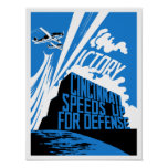 Cincinnati acelera para la defensa -- WW2 Poster
