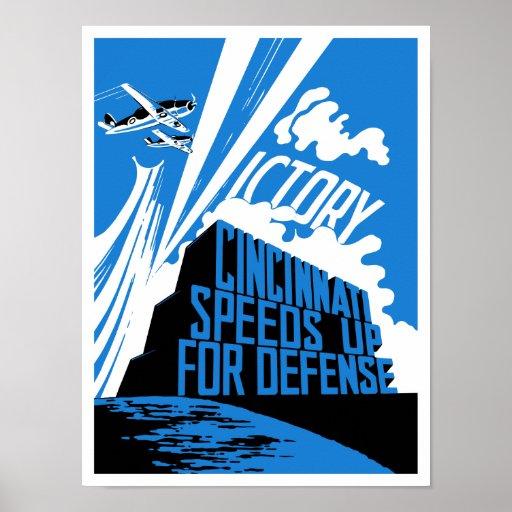 Cincinnati acelera para la defensa -- WW2 Póster
