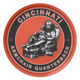 Cincinnati Armchair Quarterback Plate