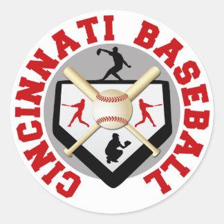 Cincinnati Baseball Classic Round Sticker