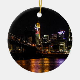 Cincinnati by Night Christmas Tree Ornament