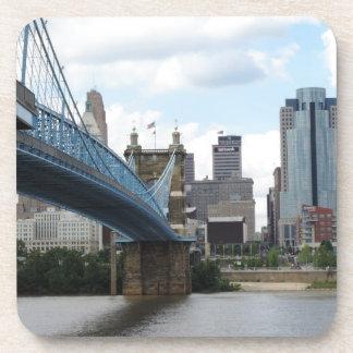 Cincinnati céntrica posavasos de bebida