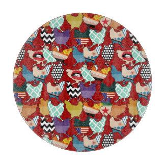 Cincinnati Chickens red Cutting Board