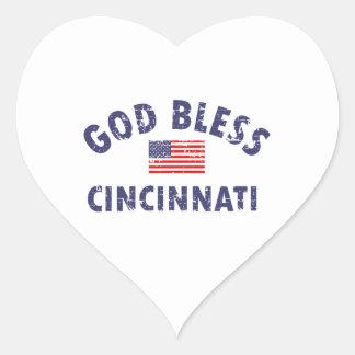 CINCINNATI city DESIGNS Heart Sticker
