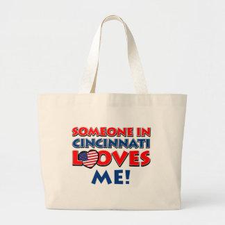 CINCINNATI City designs Large Tote Bag