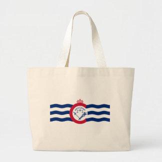 Cincinnati City Flag Large Tote Bag