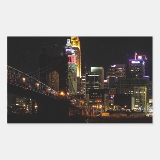 Cincinnati Cityscape Rectangular Sticker