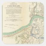 Cincinnati, Covington, Newport Pegatina Cuadrada