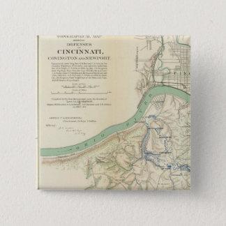 Cincinnati, Covington, Newport Pinback Button