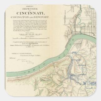Cincinnati, Covington, Newport Square Sticker