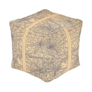 Cincinnati, Detroit, Indianapolis Cube Pouf