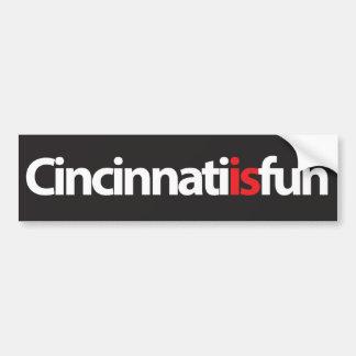 Cincinnati es pegatina para el parachoques de la d pegatina para auto
