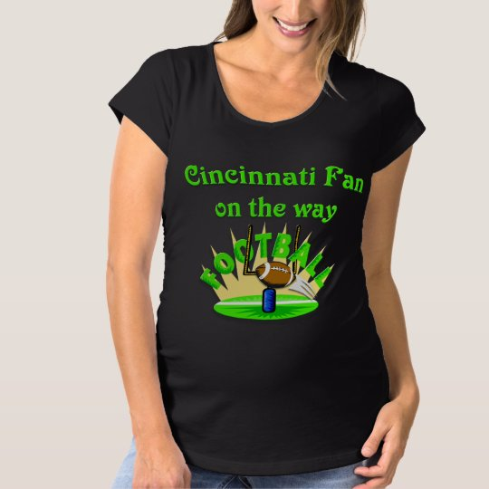 Cincinnati Fan on the way Maternity T-Shirt