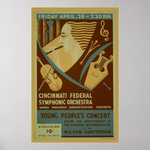 Cincinnati Federal Symphonic Orchestra Vintage
