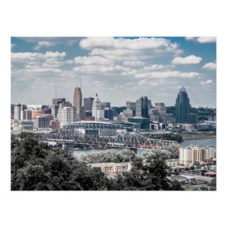Cincinnati from Devou Park, Covington, Kentucky | Poster
