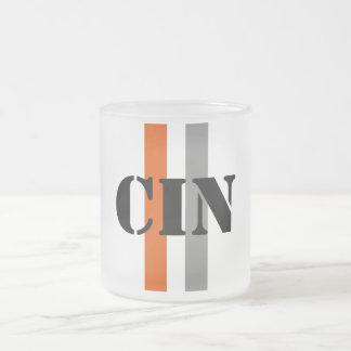 Cincinnati Frosted Glass Coffee Mug
