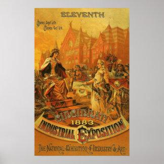 Cincinnati Industrial Exposition 1883 Posters