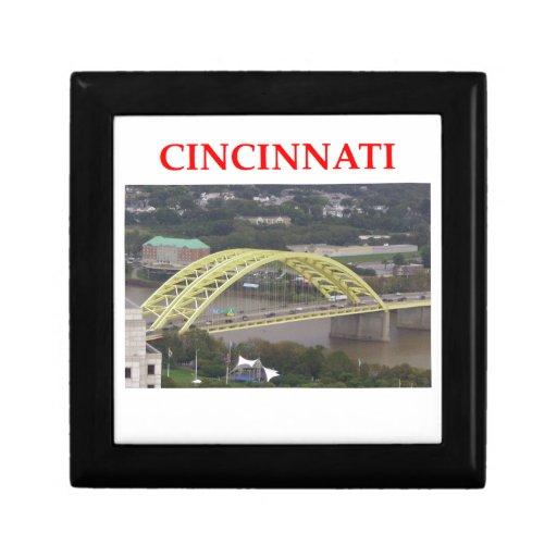 Cincinnati Joyero Cuadrado Pequeño