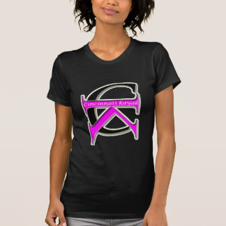 Cincinnati Kayak - Black TShirt - Pink Logo