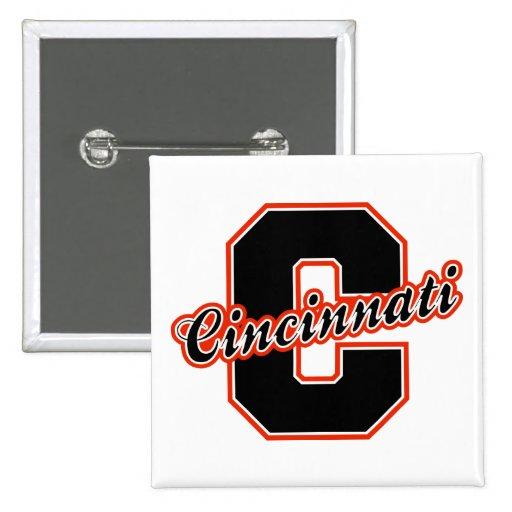 Cincinnati Letter 2 Inch Square Button
