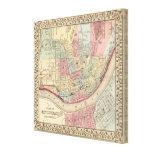 Cincinnati Map by Mitchell Canvas Print