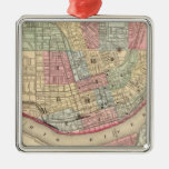 Cincinnati Map by Mitchell Christmas Tree Ornament