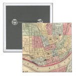 Cincinnati Map by Mitchell Pinback Button