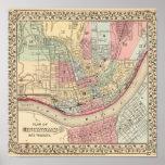 Cincinnati Map by Mitchell Poster