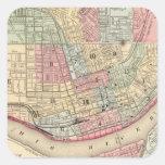 Cincinnati Map by Mitchell Square Sticker