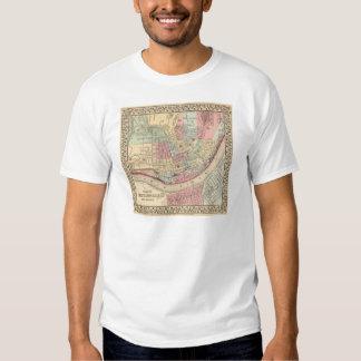 Cincinnati Map by Mitchell T Shirt