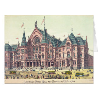 Cincinnati Music Hall 1879 Card
