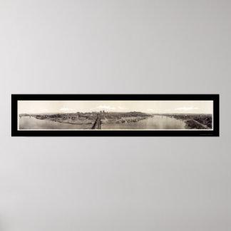 Cincinnati OH River Photo 1918 Poster