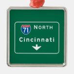Cincinnati, OH Road Sign Ornament