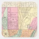 Cincinnati, Ohia Calcomanía Cuadrada Personalizada