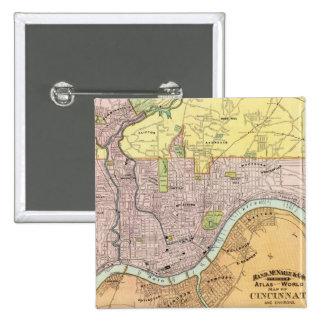 Cincinnati, Ohio 2 Pin Cuadrada 5 Cm