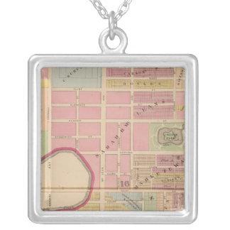 Cincinnati, Ohio 2 Square Pendant Necklace