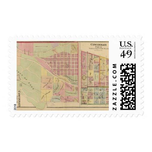 Cincinnati, Ohio 4 Postage Stamps