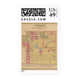 Cincinnati, Ohio 6 Postage Stamps