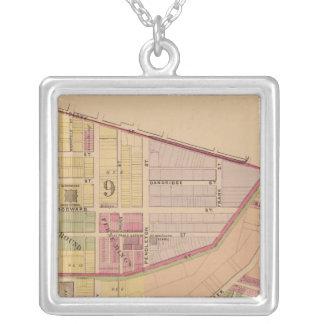 Cincinnati, Ohio 8 Square Pendant Necklace