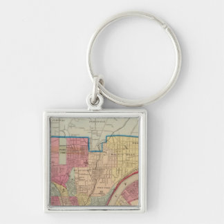 Cincinnati, Ohio and vicinity Keychain