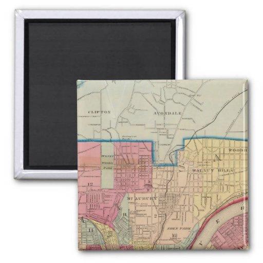 Cincinnati, Ohio and vicinity Refrigerator Magnet
