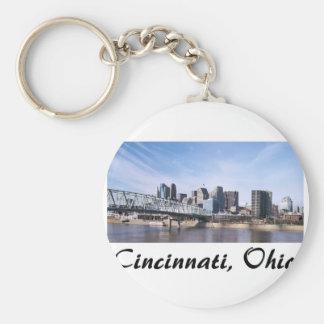 Cincinnati Ohio Basic Round Button Keychain