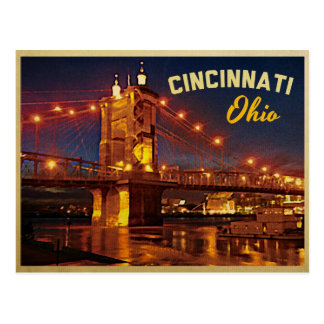 Cincinnati Ohio Bridge Post Card
