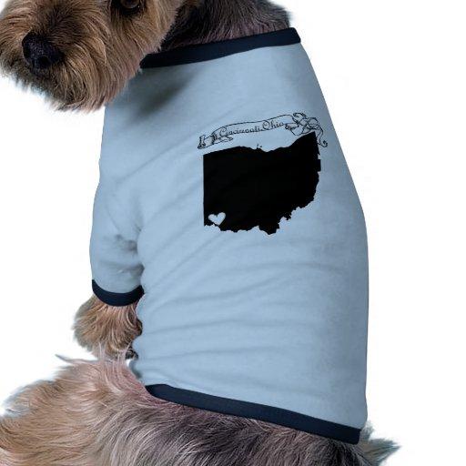 Cincinnati Ohio Camiseta Con Mangas Para Perro