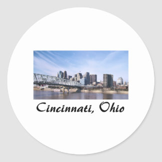 Cincinnati Ohio Classic Round Sticker