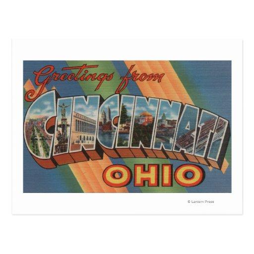 Cincinnati, Ohio - escenas grandes 2 de la letra Tarjeta Postal