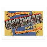 Cincinnati, Ohio - escenas grandes de la letra Tarjetas Postales