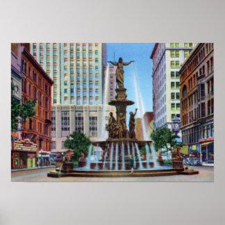 Cincinnati Ohio Fountain Square Posters